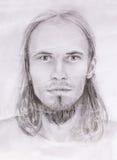 Interpretation of jesus christ portrait as young man. Stock Photo