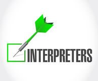 Interpreters check dart illustration Stock Photos