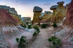 Interpretierender Park Colorado Springs der Farbenbergwerke lizenzfreies stockbild