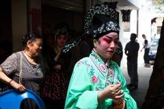 Interprète d'opéra de Pékin Images libres de droits