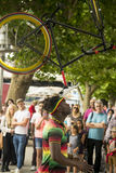 Interprète de rue à Londres Photographie stock libre de droits