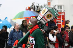 Interprètes de rue de carnaval à Maastricht Photos libres de droits