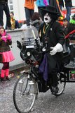 Interprètes de rue de carnaval à Maastricht Images libres de droits