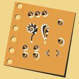 Interpunktion utrop, frågetecken Royaltyfria Bilder