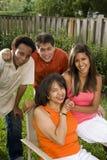 interracial afrikansk amerikanfamiljlatinamerikan Royaltyfri Foto