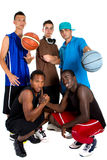 Interracial Basketball team Stock Images