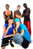 Interracial Basketball team Royalty Free Stock Photo
