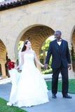 interracial bröllop för attraktiva par Royaltyfri Fotografi