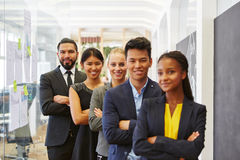 Interracial business people team in the office Stock Photography