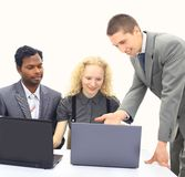 Interracial business team Royalty Free Stock Image