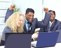 Interracial business team Stock Images
