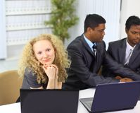 Interracial business team Royalty Free Stock Photo