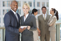 Free Interracial Business Team With Tablet Computer Royalty Free Stock Images - 20955669