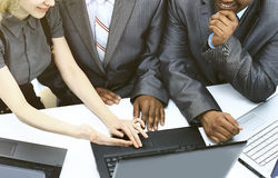 Interracial business team working Royalty Free Stock Image