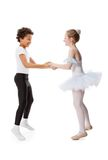 Interracial  children dancing Stock Images