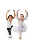 Interracial  children dancing together Royalty Free Stock Images