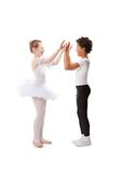 Interracial  children dancing together Royalty Free Stock Image