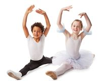 Interracial  children dancing together Stock Image