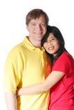 Interracial couple stock photography