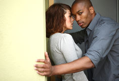 Interracial couple Stock Photos