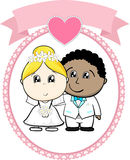 Interracial couple bride and groom Stock Photography