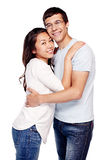 Interracial couple in love Royalty Free Stock Photography