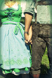 Interracial couple at Oktoberfest Royalty Free Stock Images