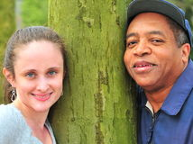 Interracial couple. Royalty Free Stock Image