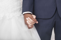 Interracial couple wedding Royalty Free Stock Images