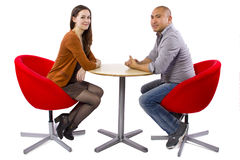 Interracial Date Royalty Free Stock Image