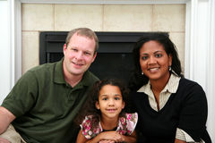 Interracial Familie Stock Foto