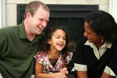 interracial familj Royaltyfri Foto
