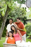 Interracial family Stock Photos