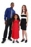 Interracial Family stock image