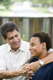 Interracial father and son Stock Photo