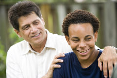 Interracial father and son Stock Image