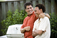 Interracial father and son Royalty Free Stock Photography