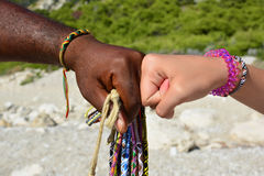 Interracial frendship royalty free stock images