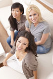Interracial Group of Beautiful Women Friends Stock Photos