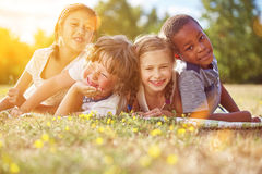 Interracial group of children Royalty Free Stock Image