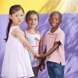 Interracial group of happy children Royalty-vrije Stock Foto