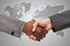 Interracial handshake Royalty Free Stock Photo