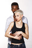 Interracial love Stock Photos