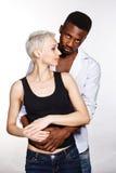 Interracial love Stock Image
