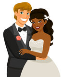 Interracial marriage royalty free illustration