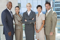 Interracial Men & Women Business Team Royalty Free Stock Images