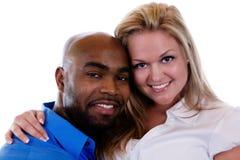 Interracial Paar stock afbeelding