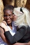 Interracial paar van het portret Stock Foto