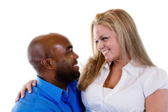 interracial par royaltyfri foto