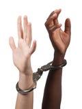Interracial puesto manilla Fotos de archivo